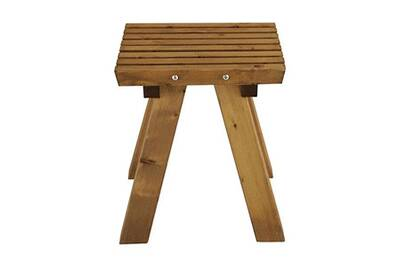 Chaise et fauteuil de jardin Jardipolys Tabouret de jardin en bois ...