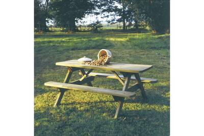 Ensemble table et chaise de jardin Solid Table de pique nique en ...
