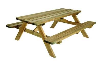 Ensemble table et chaise de jardin Burger Table de pique nique en ...