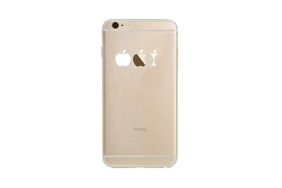 Coque Silicone IPHONE 6/6S Trognon de Pomme Fun APPLE Mange Pomme Transparente Protection Gel Souple