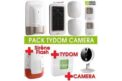 Alarme maison delta dore pack alarme tyxal avec cam ra - Alarme maison sirene exterieure ...