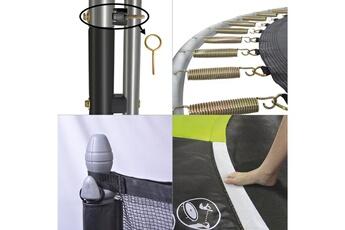 Trampoline Kangui Trampoline de jardin 365 cm + filet de sécurité + échelle + bâche de protection + kit d'ancrage jumpi pop 360