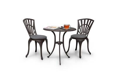 Salon de jardin Blumfeldt Valletta Set bistrot table 2 chaises &amp ...