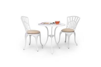 Salon de jardin Blumfeldt Valletta Set bistrot table 2 chaises & ...