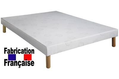 sommier direct ameublement sommier tapissier 140x190 avec pieds de 20 cm ht darty. Black Bedroom Furniture Sets. Home Design Ideas