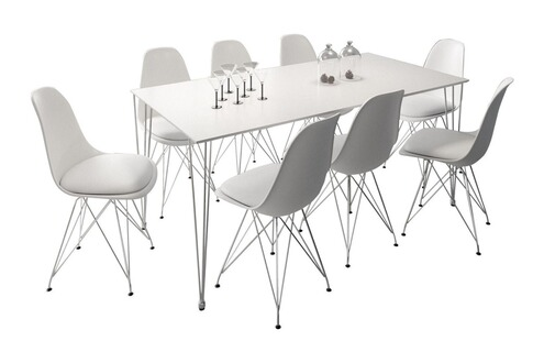 Table Comforium Table design rectangulaire 160 cm coloris blanc mat