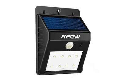 Luminaire solaire alpexe 8 led lampe solaire 8 led lample sans fil de s curit d tecteur de - Eclairage de jardin sans fil ...