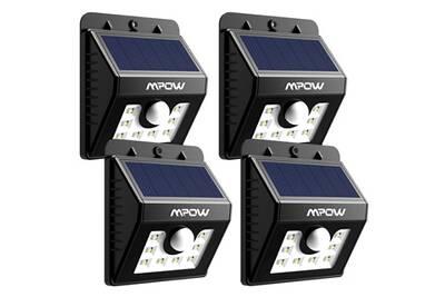 Luminaire solaire Alpexe 4 PACK Lampe Solaire LED Etanche Faro ...