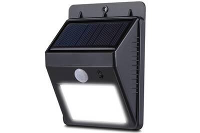 Luminaire Solaire Alpexe Lampe Extérieur Sans Fil étanche Ip64 8 Leds Lumineuses Eclairage Mural à Détecteur De Movement Spot