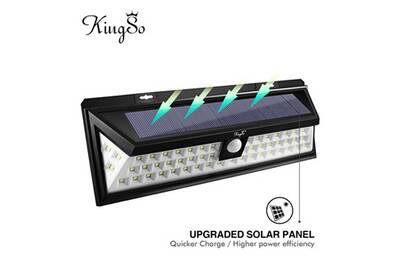 Lampe Solaire Extérieur 54 LEDs Détecteur de Mouvement sans Fil Éclairage  Solaire d\'applique Murale Projecteur à Énergie Solaire Autonomique pour ...