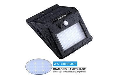 Luminaire solaire Alpexe 16 LED 320 Lumens Lampe Solaire Extérieure ...