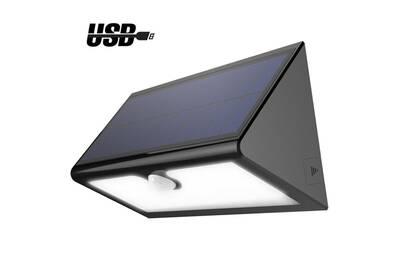 Lampe solaire sans fil 46 LED 600 Lumens, Eclairage Extérieur Imperméable  avec 4 Modes Intelligentes pour Jardin, Patio, Terrasse, Cour, Allée, ...