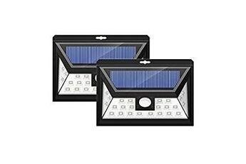 d5e6381cada62c Luminaire solaire 2 Pack 24 LED Lampe Solaire Jardin etanche sans fil,  Luminaire Exterieur Détecteur