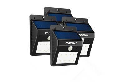 4xPACK 8 LED eclairage exterieur imperméable, eclairage terrasse Sans Fil  Détecteur de Mouvement , Éclairage de Sécurité / Lampe Solaire Extérieur /  ...