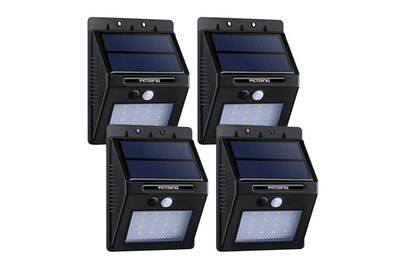 Luminaire solaire Alpexe 4 Pack 16 LED 320 Lumens Lampe Solaire ...