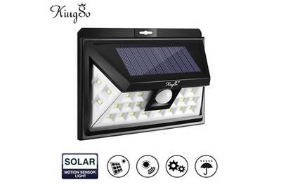 Lampe Solaire Extérieur 24 LEDs Détecteur de Mouvement sans Fil Éclairage  Solaire d\'applique Murale Projecteur à Énergie Solaire Autonomique pour ...