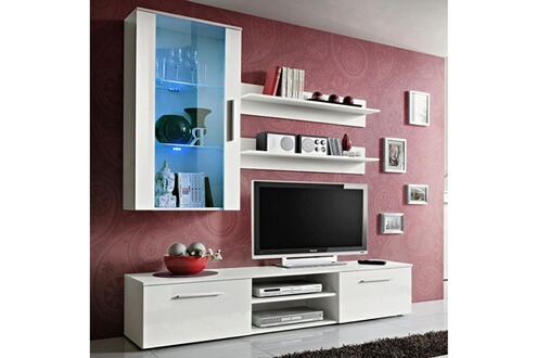 meuble tv accroche au mur maison design. Black Bedroom Furniture Sets. Home Design Ideas