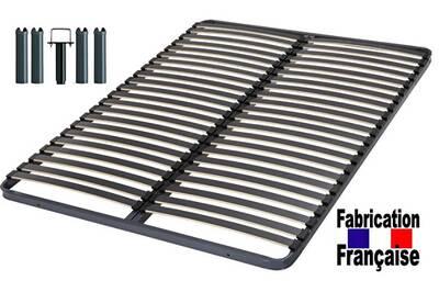 sommier direct ameublement cadre 44 lattes 140x190 avec pieds de 28 cm ht darty. Black Bedroom Furniture Sets. Home Design Ideas