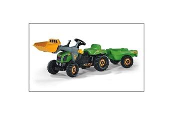Véhicule à pédales ROLLYTOYS Rolly Toys 023134 Tracteur pour enfants RollyKid avec godet et remorque