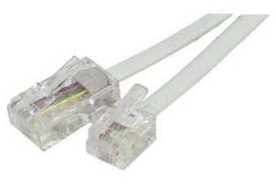 Cordon Adaptateur Rj11 Vers Rj45 3m Blanc