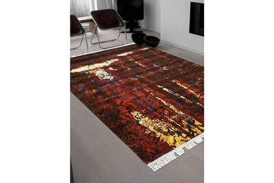 Tapis salon fire marron 250 x 300 cm tapis de salon moderne design par  impalo