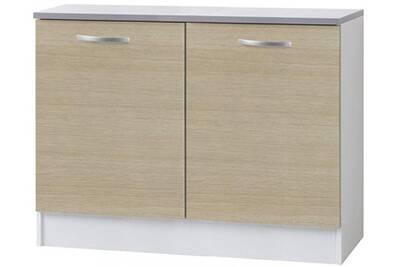 meuble de cuisine comforium meuble bas de cuisine moderne 120 cm coloris chne clair
