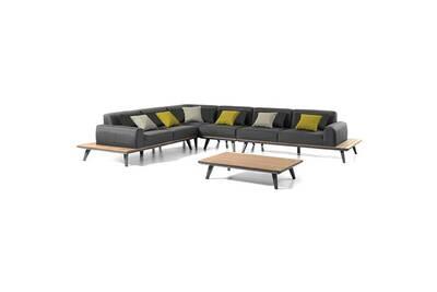 Ensemble table et chaise de jardin Gecko Jardin Salon d\'angle en alu ...