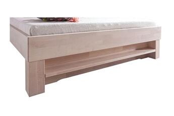 Étagère pour lit en bois hêtre massif 90 cm coloris blanc huilé