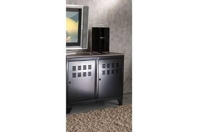 Caisson de bureau mobmetal meuble métal 2 portes noir phsa
