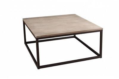 En Lea De Carrée Cm Paulownia Et 90 Table Basse Bois Métal Industrielle X OPZiukX