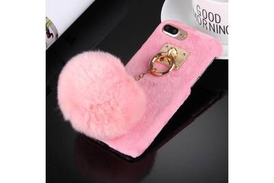 coque iphone 8 plus pompom