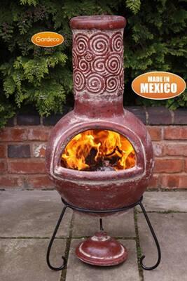 Brasero Gardeco Cheminée Mexicaine Espiral Gardeco taille large ...
