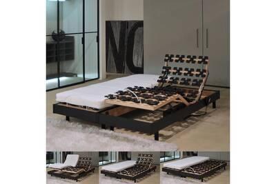 ensemble matelas et sommier le quai des affaires ensemble 2 sommiers relaxation lectrique. Black Bedroom Furniture Sets. Home Design Ideas