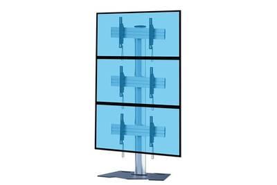 Support Mural Pour Ecran Plat Kimex Support Sur Pied Videowall Pour 3 Ecrans Tv 45 55 Darty