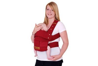 Porte bébé MANDUCA Porte bébé ruby rouge taille s   Darty 15c39f2cc64