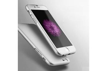 Coque iPhone BPFY Etui Coque Housse 360° ARGENT FULL PROTECTION Anti Chocs  pour IPHONE 7 93223a0dc3315