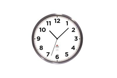 Horloges Deuba Horloge Murale Blanche Radio Pilotee Changement Heure Automatique O 31cm Darty