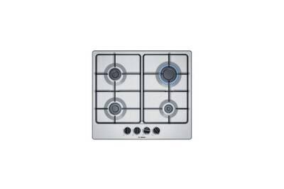 pas cher pour réduction 29230 7e2ec Bosch pgp6b5b80 table cuisson gaz - 4 foyers - l 58,2 x p 45 cm -  revetement inox - coloris inox
