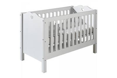 Lit bébé Comforium Lit à barreaux contemporain 60x120 cm avec ...