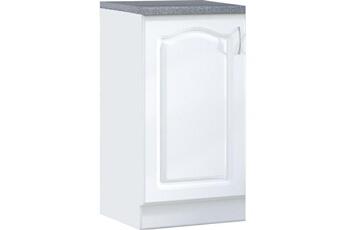 meuble de cuisine meuble bas de cuisine style contemporain 60 cm avec 1 porte coloris blanc