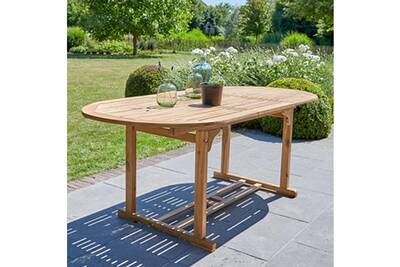 Table en bois d\'acacia fsc 6 à 8 places