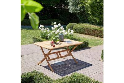 Table pliante en bois d\'acacia fsc