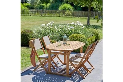 Ensemble table et chaise de jardin Bois Dessus Bois Dessous Salon de ...