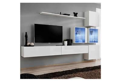 Meuble Tv Paris Prix Meuble Tv Mural Design Quot Switch Xix Quot 310cm Blanc Darty