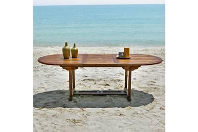 Table de jardin Bois Dessus Bois Dessous Table de jardin ovale en ...