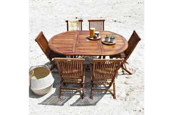 Ensemble table et chaise de jardin Bois Dessus Bois Dessous | Darty