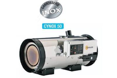 Radiateur à eau chaude Sovelor Sovelor - chauffage air pulsé inox suspendu avec brûleur fuel ou gaz à combustion indirecte 750w - cynox50f