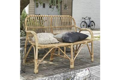 Canapé de jardin en rotin vintage