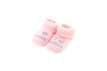 410b557d93e28 Linge de lit bébé Fruit De Ma Passion Chaussons pour bébé 0 à 3 mois rose