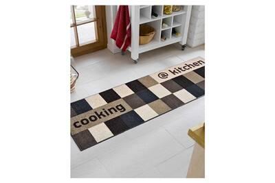 Tapis de cuisine Unamourdetapis Kitchenish kt marron 60 x 180 cm ...